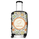 Swirls & Floral Suitcase (Personalized)