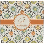 Swirls & Floral Ceramic Tile Hot Pad (Personalized)