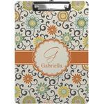 Swirls & Floral Clipboard (Personalized)