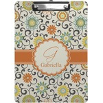 Swirls & Floral Clipboard (Personalized)