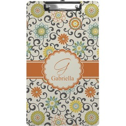 Swirls & Floral Clipboard (Legal Size) (Personalized)