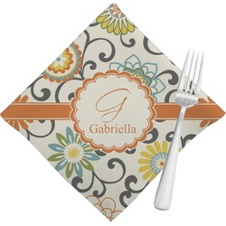 Swirls & Floral Napkins (Set of 4) (Personalized)