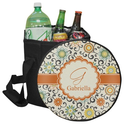 Swirls & Floral Collapsible Cooler & Seat (Personalized)