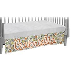 Swirls & Floral Crib Skirt (Personalized)