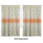 "Swirls & Floral Curtains - 20""x54"" Panels - Lined (2 Panels Per Set) (Personalized)"