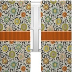 Swirls & Floral Curtains (2 Panels Per Set) (Personalized)