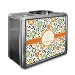 Swirls & Floral Lunch Box (Personalized)