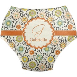 Swirls & Floral Diaper Cover (Personalized)