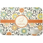 Swirls & Floral Dish Drying Mat (Personalized)
