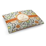 Swirls & Floral Dog Bed (Personalized)