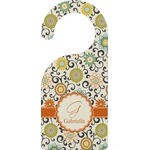 Swirls & Floral Door Hanger (Personalized)
