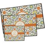 Swirls & Floral Door Mat (Personalized)