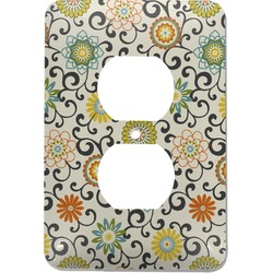 Swirls & Floral Electric Outlet Plate (Personalized)