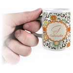Swirls & Floral Espresso Cups (Personalized)