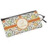 Swirls & Floral Genuine Leather Eyeglass Case (Personalized)