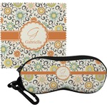 Swirls & Floral Eyeglass Case & Cloth (Personalized)