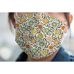 Swirls & Floral Face Mask Cover (Personalized)