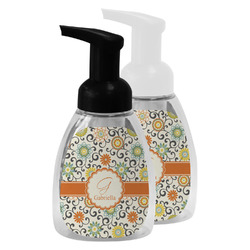 Swirls & Floral Foam Soap Bottle (Personalized)