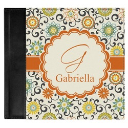 Swirls & Floral Genuine Leather Baby Memory Book (Personalized)
