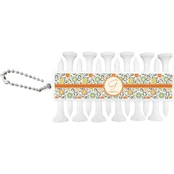 Swirls & Floral Golf Tees & Ball Markers Set (Personalized)