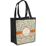 Swirls & Floral Grocery Bag (Personalized)