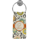 Swirls & Floral Hand Towel - Full Print (Personalized)