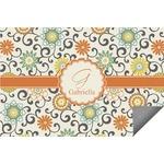 Swirls & Floral Indoor / Outdoor Rug (Personalized)