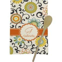 Swirls & Floral Kitchen Towel - Full Print (Personalized)