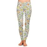 Swirls & Floral Ladies Leggings (Personalized)
