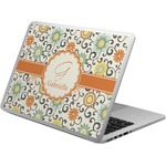Swirls & Floral Laptop Skin - Custom Sized (Personalized)
