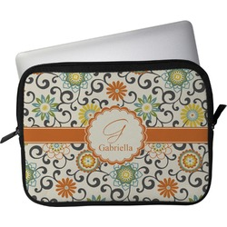 """Swirls & Floral Laptop Sleeve / Case - 13"""" (Personalized)"""