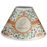 Swirls & Floral Coolie Lamp Shade (Personalized)