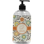 Swirls & Floral Plastic Soap / Lotion Dispenser (Personalized)