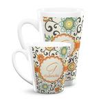 Swirls & Floral Latte Mug (Personalized)