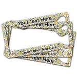 Swirls & Floral License Plate Frame (Personalized)