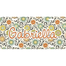 Swirls & Floral Front License Plate (Personalized)