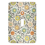 Swirls & Floral Light Switch Covers (Personalized)