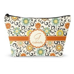 Swirls & Floral Makeup Bags (Personalized)