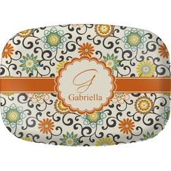 Swirls & Floral Melamine Platter (Personalized)