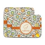 Swirls & Floral Memory Foam Bath Mat (Personalized)