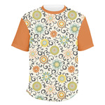 Swirls & Floral Men's Crew T-Shirt (Personalized)