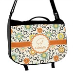 Swirls & Floral Messenger Bag (Personalized)
