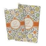 Swirls & Floral Microfiber Golf Towel (Personalized)