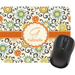 Swirls & Floral Mouse Pad (Personalized)