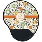 Swirls & Floral Mouse Pad with Wrist Support