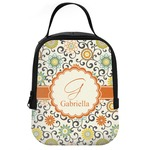 Swirls & Floral Neoprene Lunch Tote (Personalized)