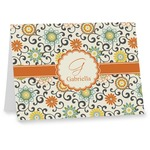 Swirls & Floral Notecards (Personalized)
