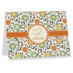 Swirls & Floral Note cards (Personalized)