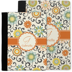 Swirls & Floral Notebook Padfolio w/ Name and Initial
