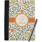 Swirls & Floral Notebook Padfolio (Personalized)